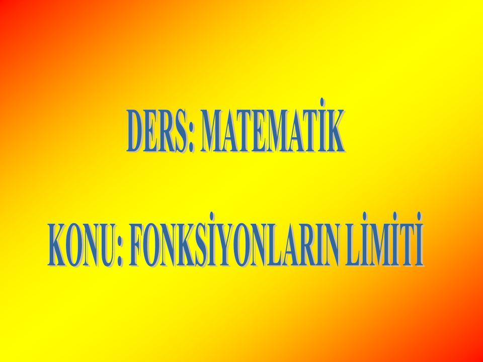 SOLDAN VE SAĞDAN LİMİT ya da şeklinde tanımlı f fonksiyonunda: Tanım1: x değerleri a dan küçük değerlerle artarak(soldan)a ya yaklaşırken, f(x) ler de bir reel sayısına,f fonksiyonunun a noktasındaki soldan limiti denir ve biçiminde gösterilir.