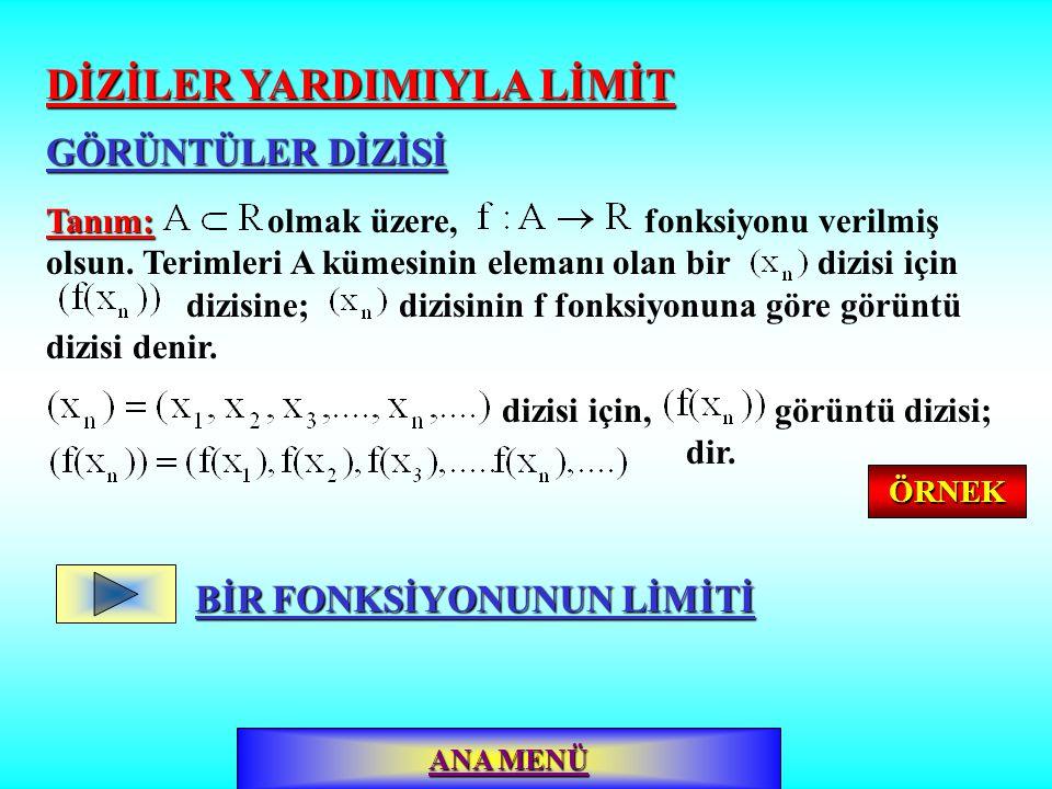Aralığının uç noktalarındaki limiti fonksiyonunun tanım aralığının uç noktalarındaki limiti araştırılırken: 1.a noktasındaki limit sadece sağdan limitle belirlenir.
