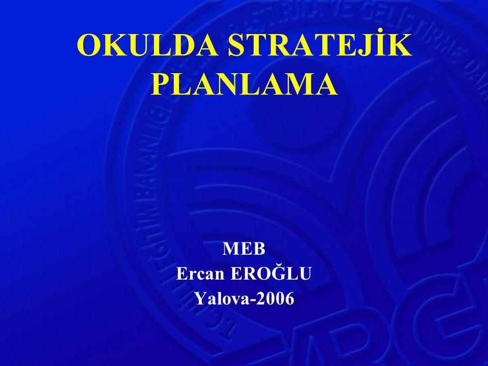 OKULDA STRATEJİK PLANLAMA MEB Ercan EROĞLU Yalova-2006