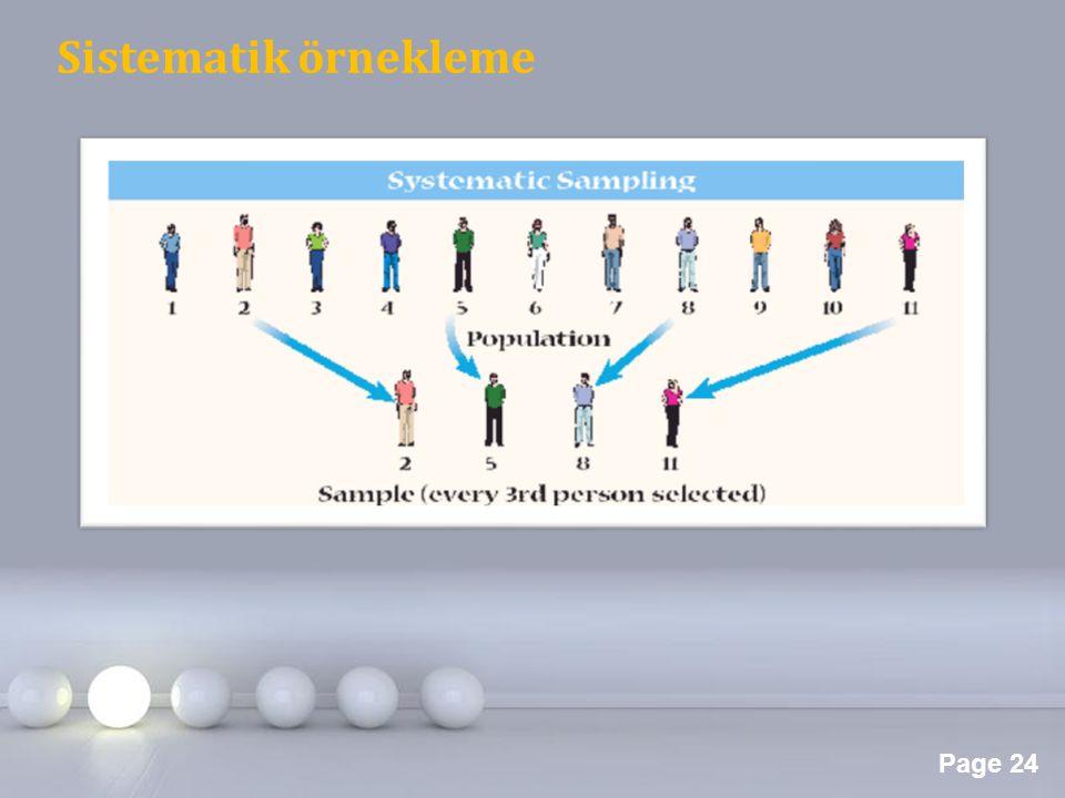 Page 24 Sistematik örnekleme