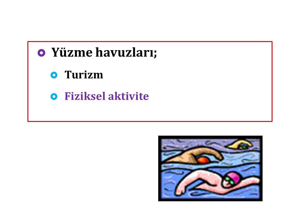  Yüzme havuzları;  Turizm  Fiziksel aktivite