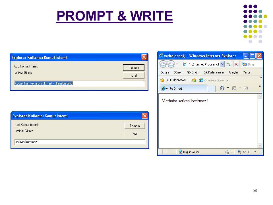58 PROMPT & WRITE