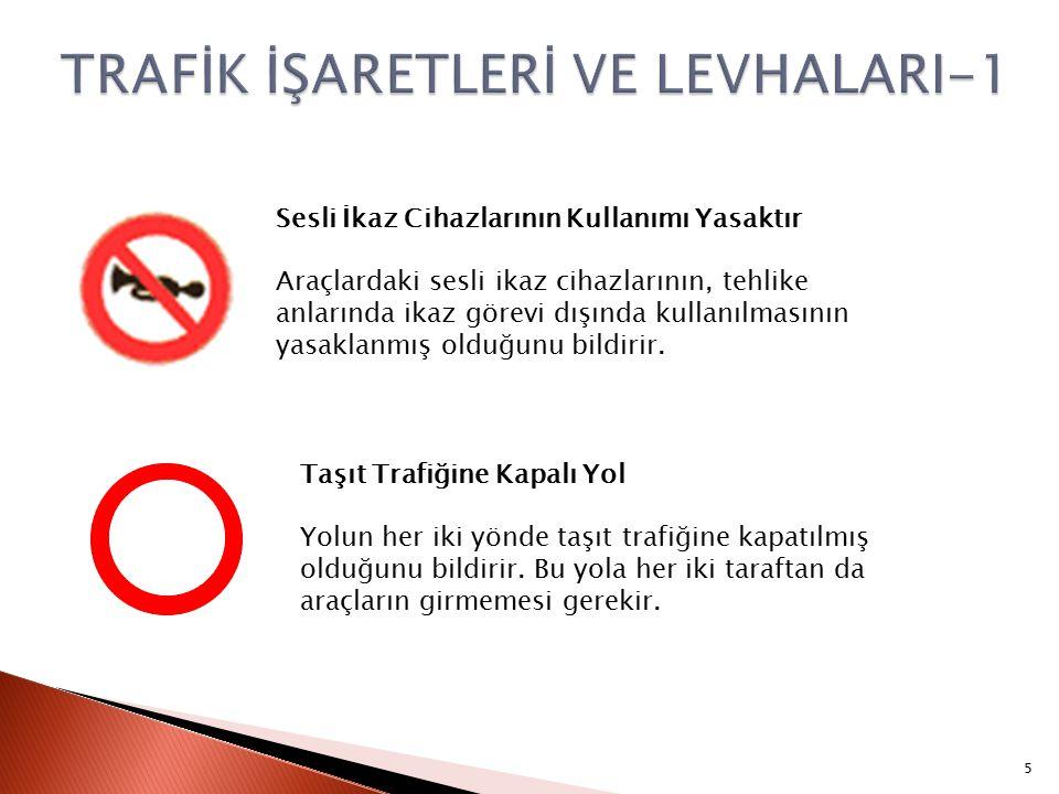 Sesli İkaz Cihazlarının Kullanımı Yasaktır Araçlardaki sesli ikaz cihazlarının, tehlike anlarında ikaz görevi dışında kullanılmasının yasaklanmış olduğunu bildirir.