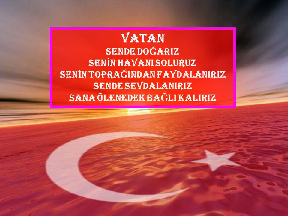 Vatanımız, Türk Milleti'nin eski ve yüksek tarihi ve topraklarının derinliklerinde varlıklarını sürdüren eserleri ile bugünkü yurttur. Vatan hiçbir ka