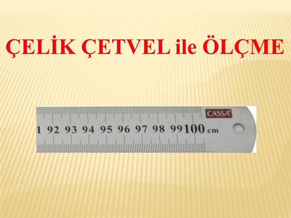  Makine atölyelerinde en çok kullanılan ölçü aletlerindendir.