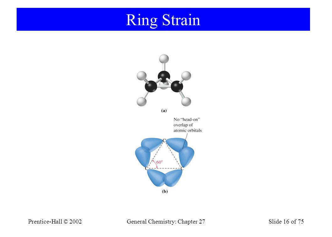 Prentice-Hall © 2002General Chemistry: Chapter 27Slide 16 of 75 Ring Strain