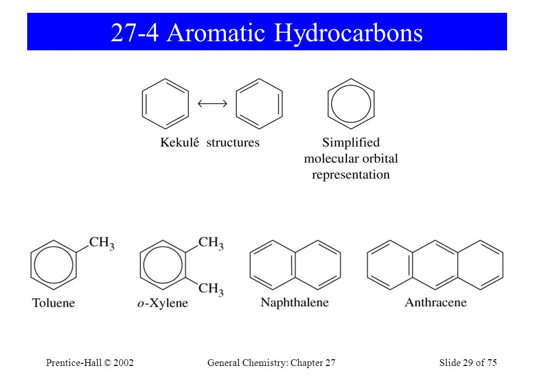 Prentice-Hall © 2002General Chemistry: Chapter 27Slide 29 of 75 27-4 Aromatic Hydrocarbons