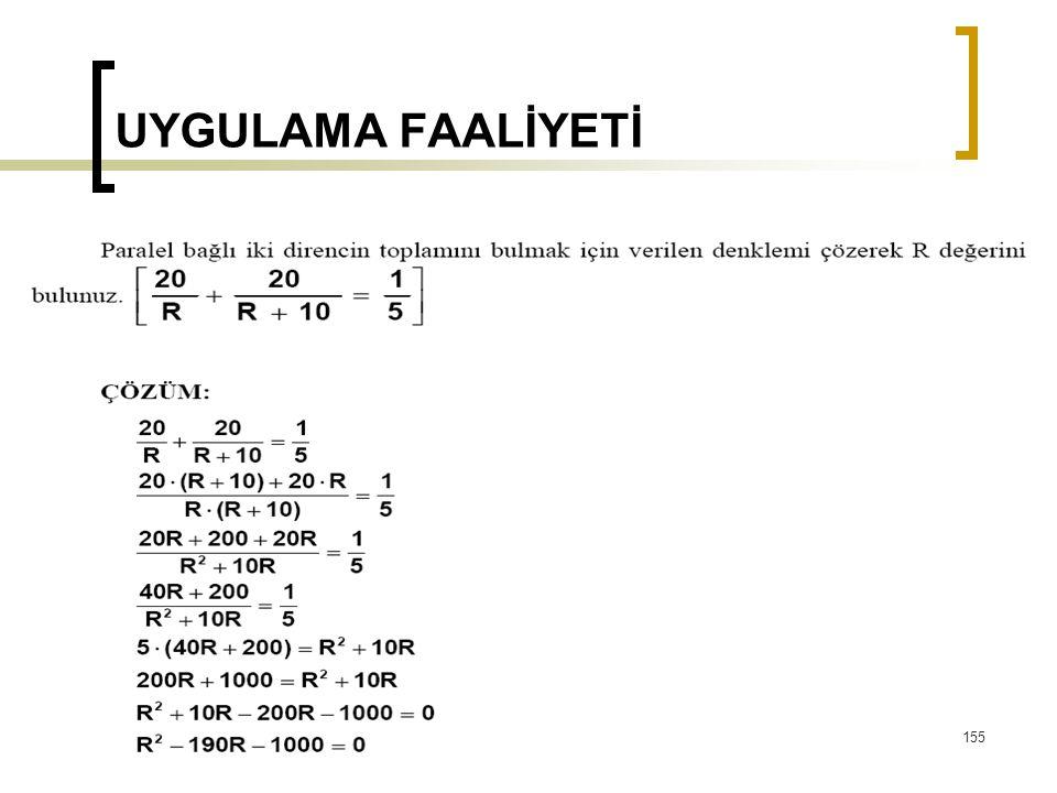 UYGULAMA FAALİYETİ 155