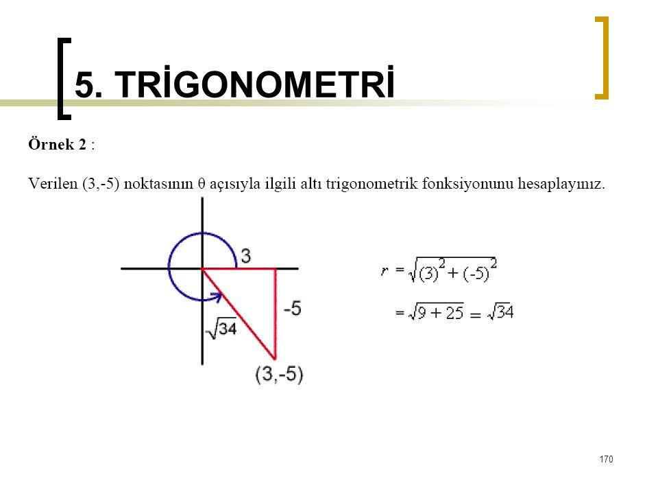 5. TRİGONOMETRİ 170