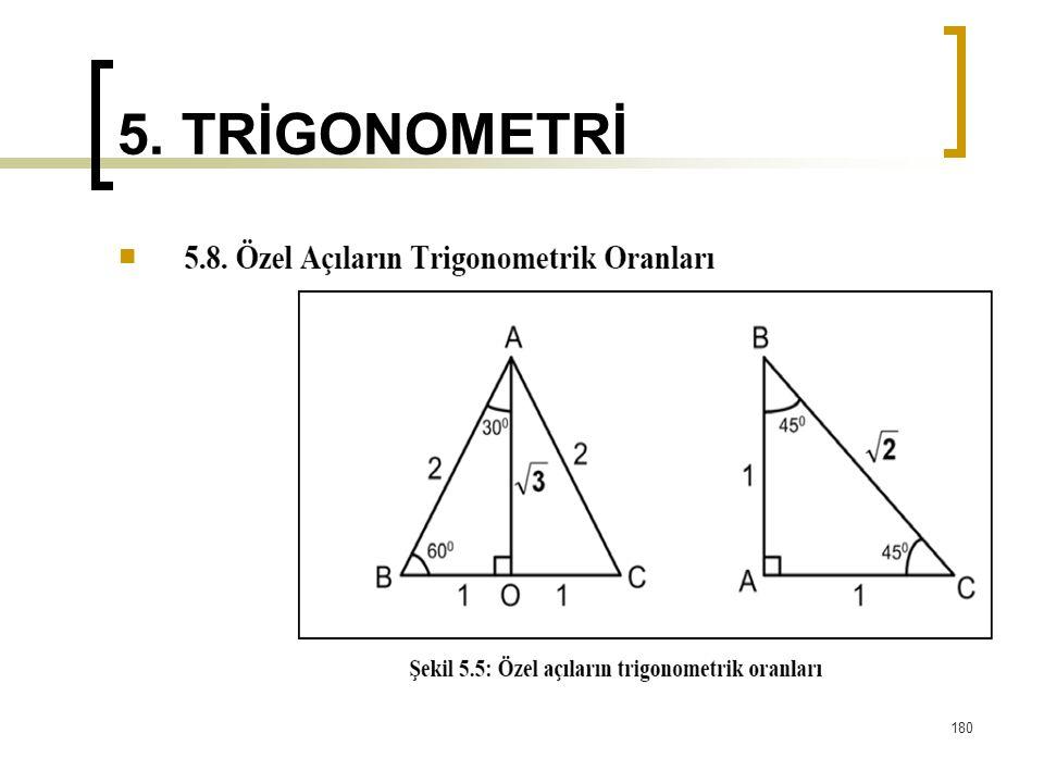 5. TRİGONOMETRİ 180