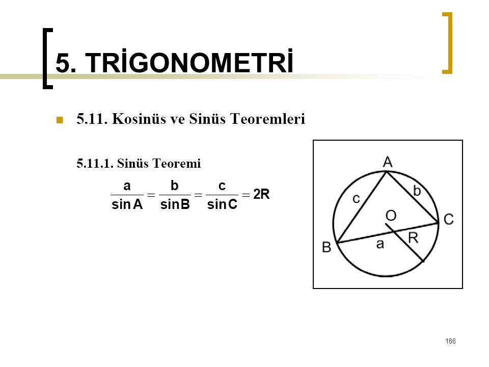 5. TRİGONOMETRİ 186