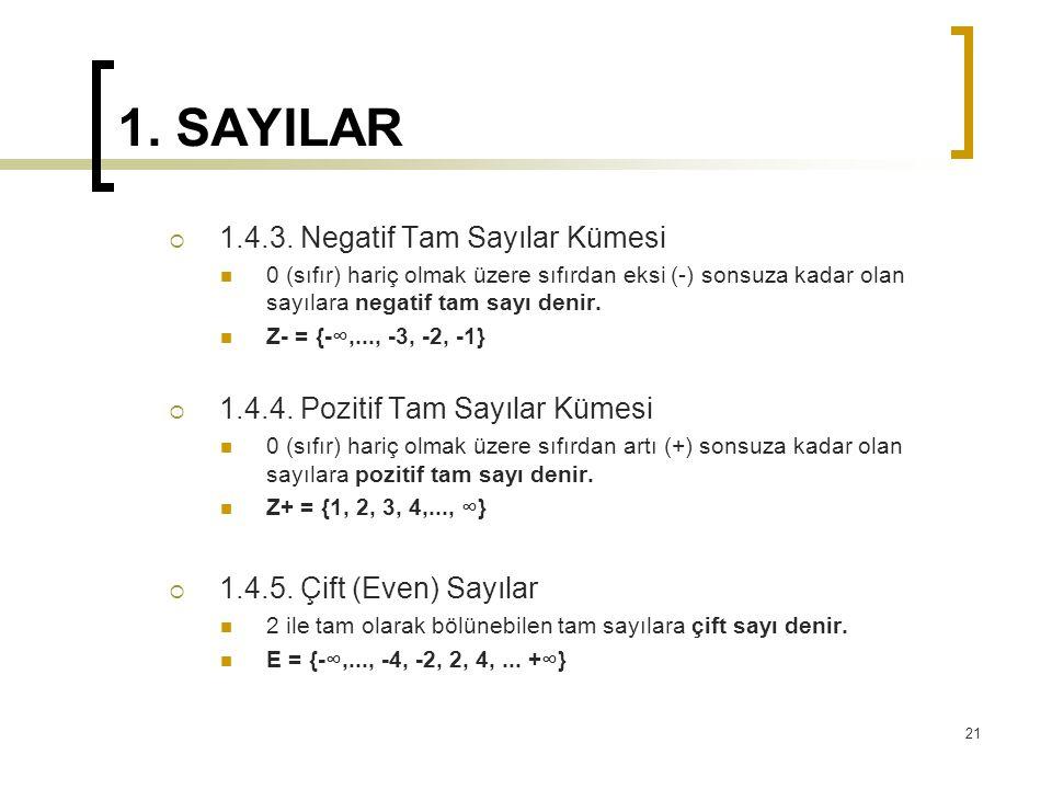 1.SAYILAR  1.4.3.