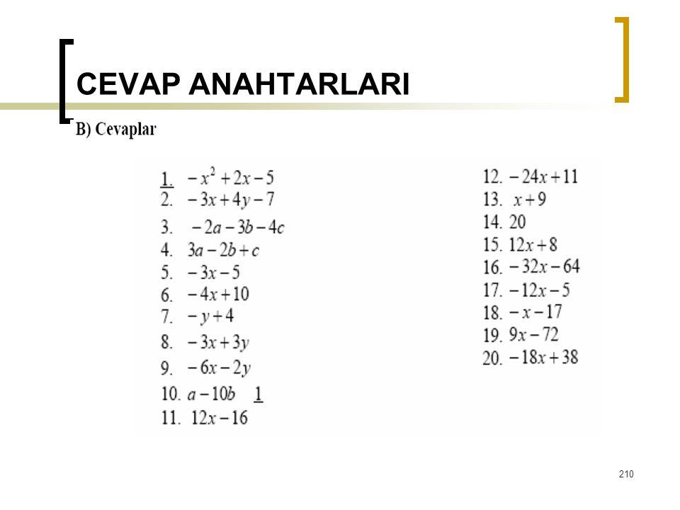 CEVAP ANAHTARLARI  210