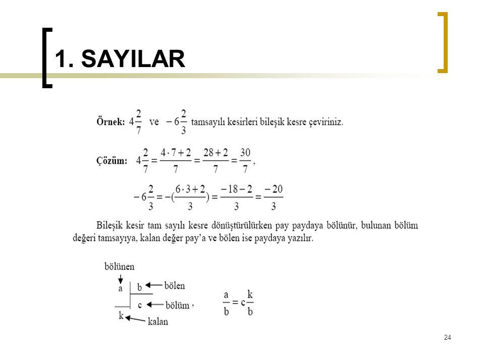 1. SAYILAR 24