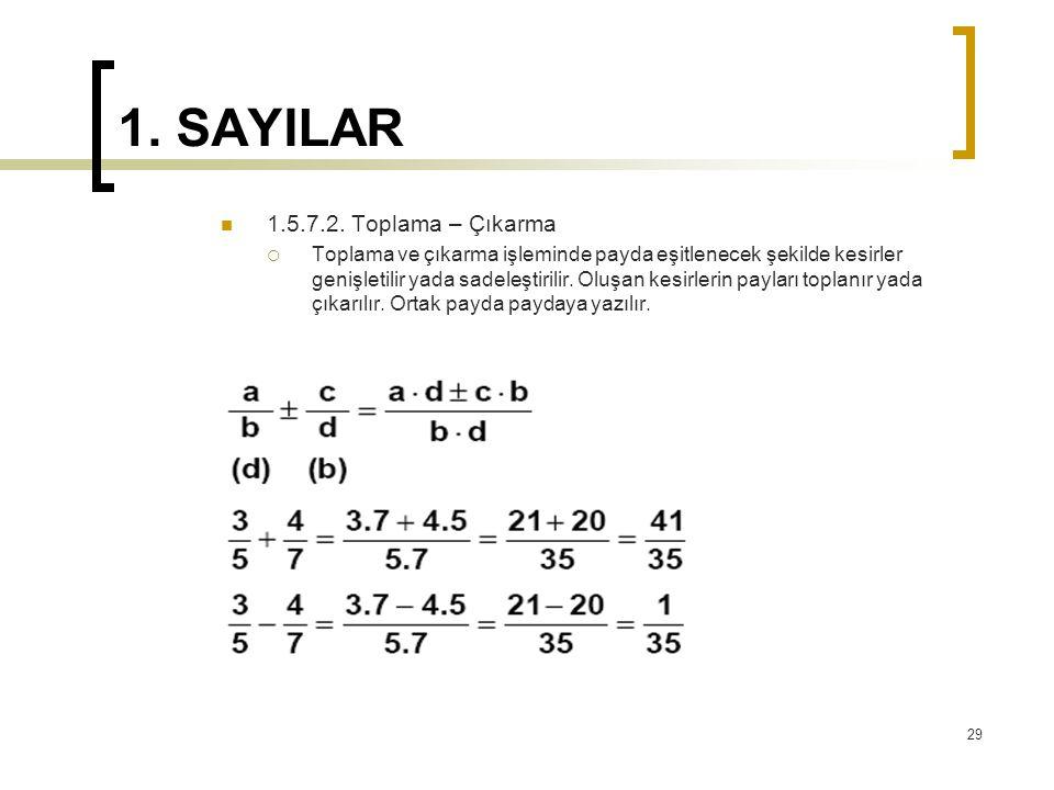 1.SAYILAR 1.5.7.2.