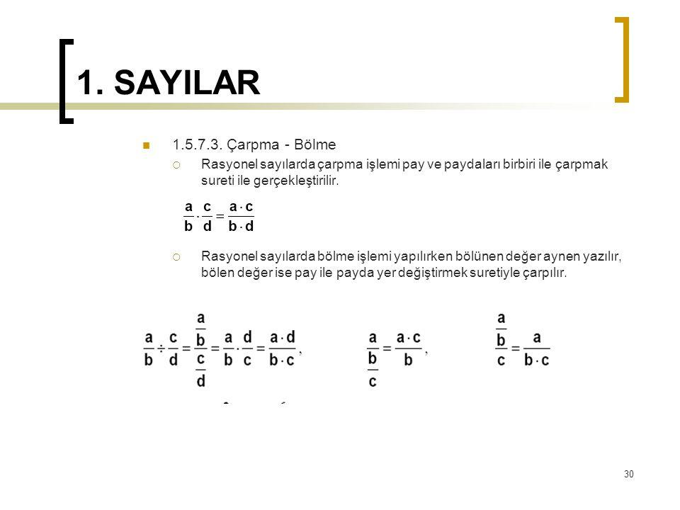 1.SAYILAR 1.5.7.3.