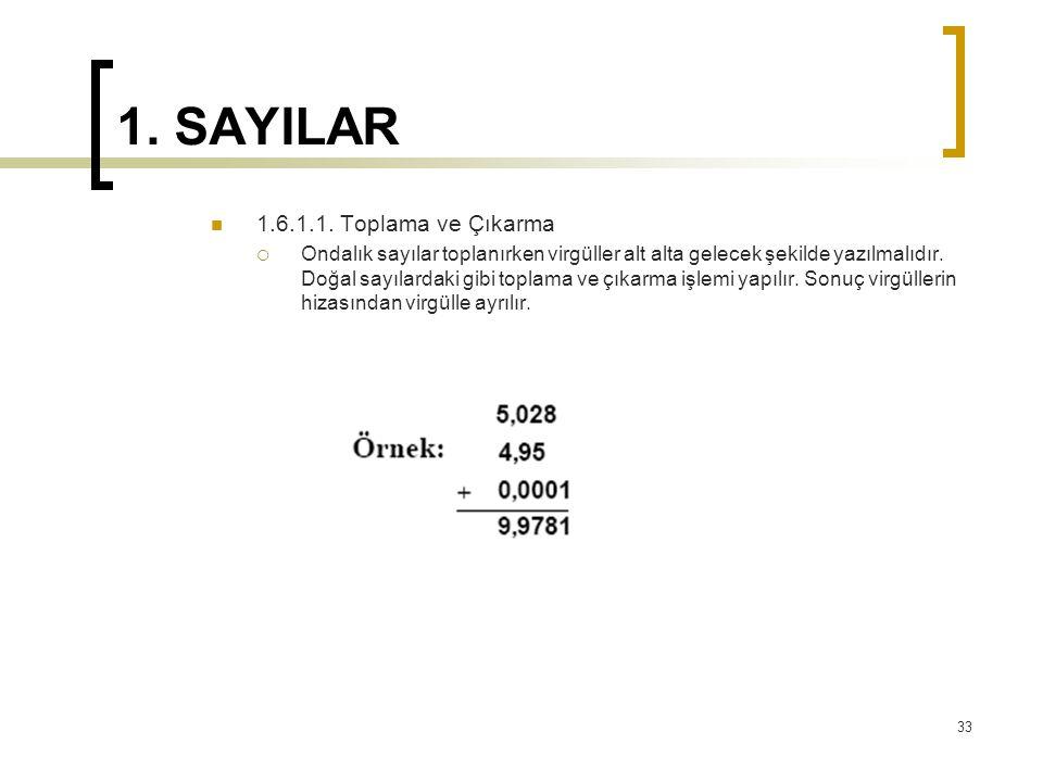 1.SAYILAR 1.6.1.1.