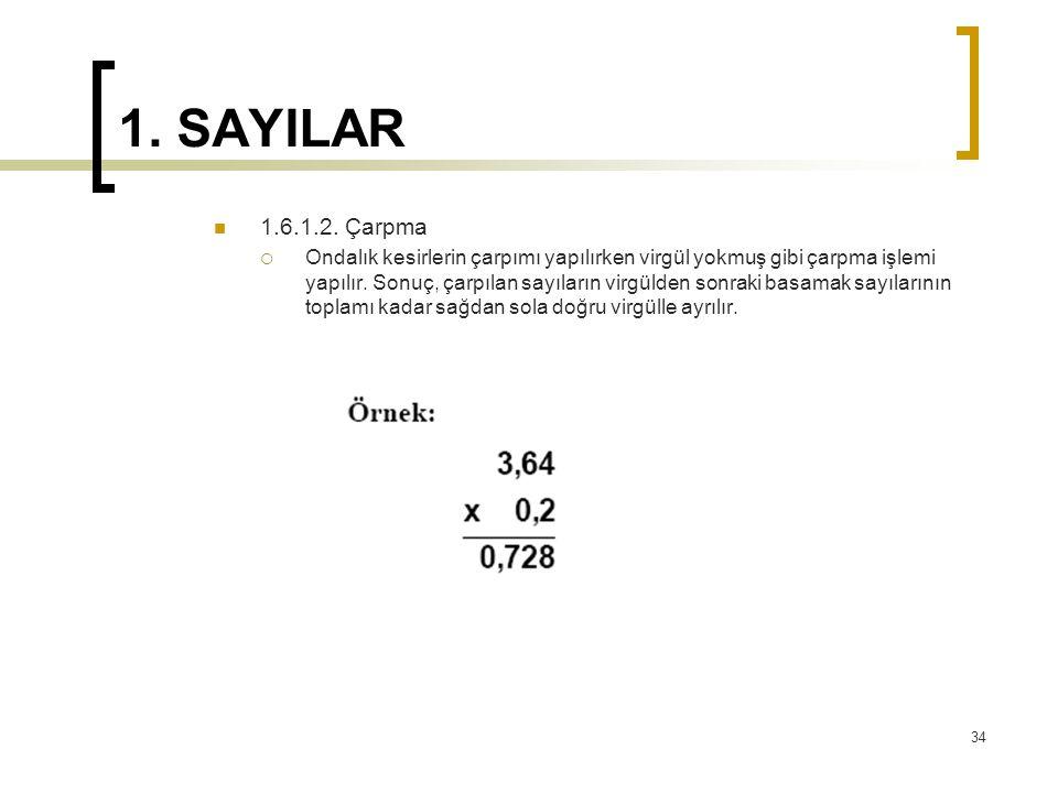1.SAYILAR 1.6.1.2.