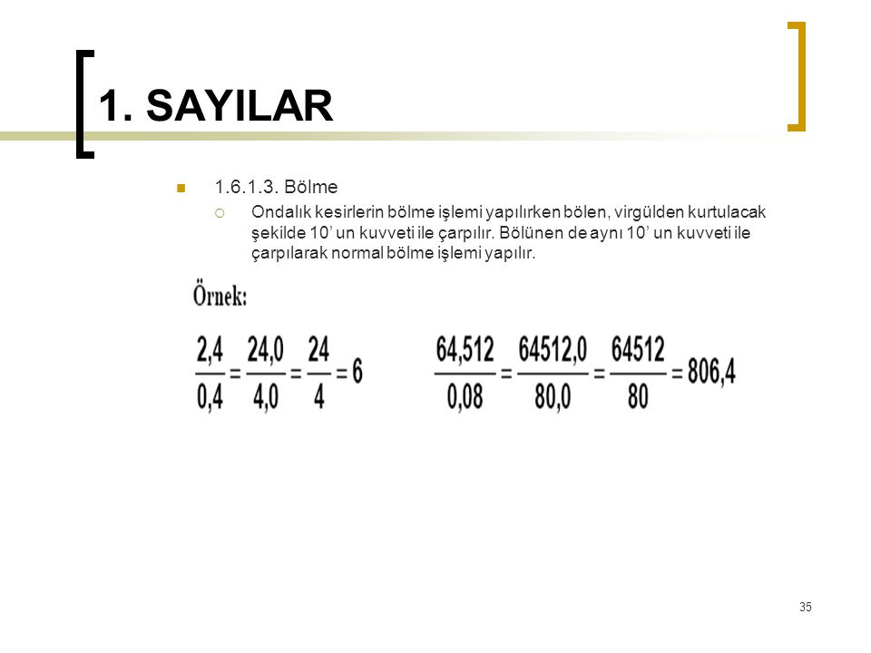 1.SAYILAR 1.6.1.3.