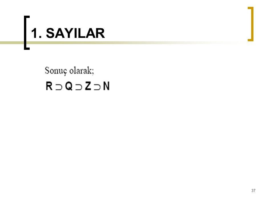 1. SAYILAR 37