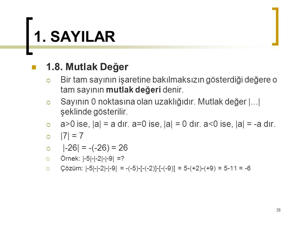 1.SAYILAR 1.8.