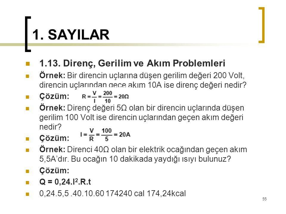 1.SAYILAR 1.13.