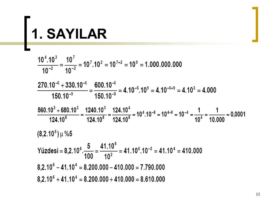 1. SAYILAR 65