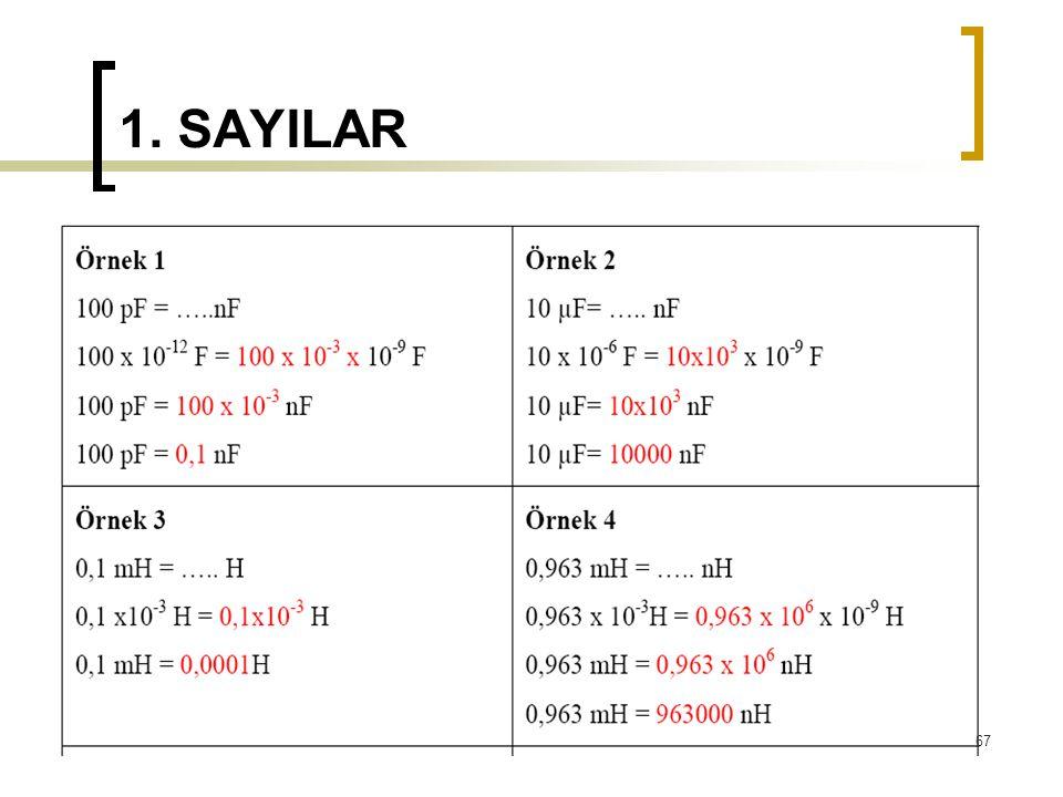 1. SAYILAR 67