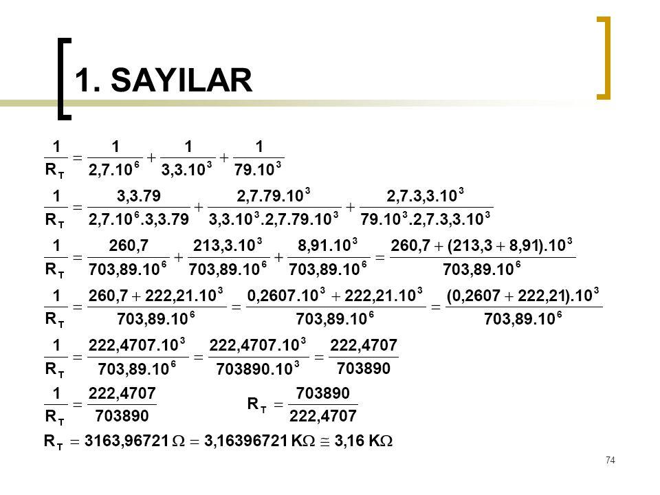1. SAYILAR 74