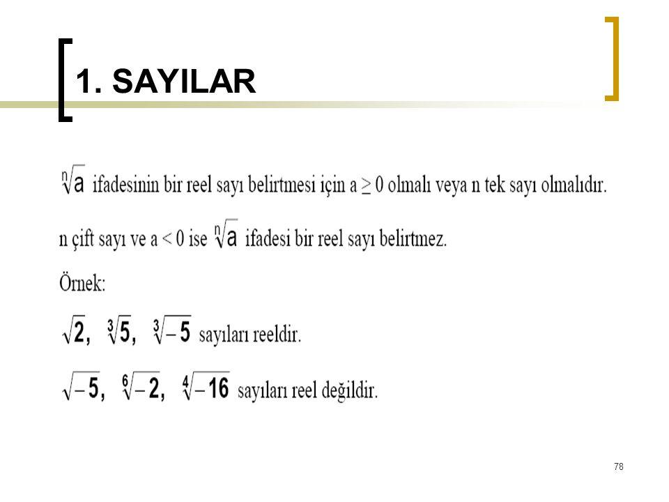 1. SAYILAR 78