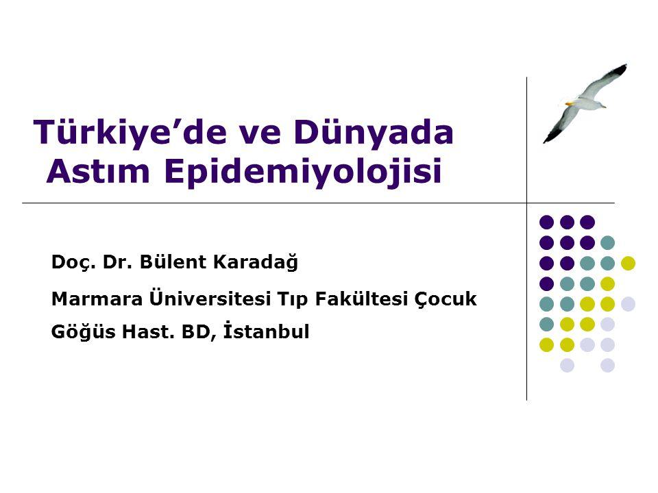 Türkiye'de ve Dünyada Astım Epidemiyolojisi Doç.Dr.