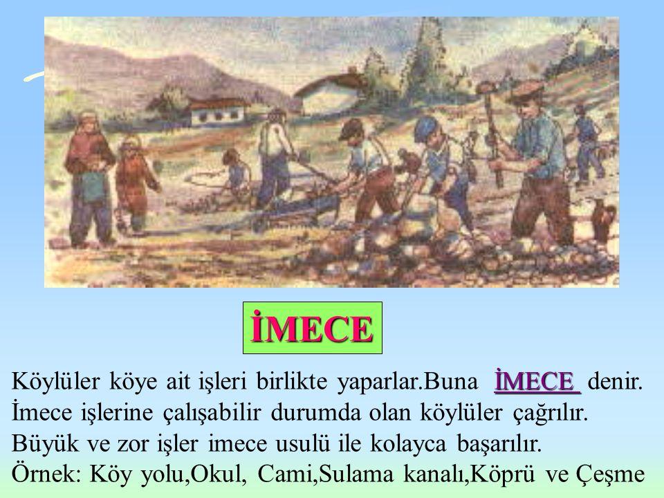 Türk köylüsünün güzel töreleri Ö ÖÖ ÖRF ve ADET 'leri vardır. Çiftçiler daha çok Bayramlarda,Düğünlerde ve Bağbozumunda eğlenirler. Düğünlerinde davul