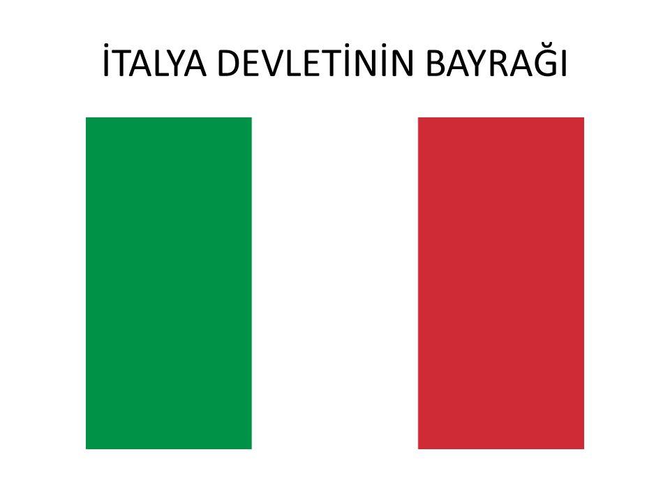 DEVLETİN ADI: İtalya Cumhuriyeti BAŞŞEHRİ: Roma YÜZÖLÇÜMÜ: 301.252 km2 NÜFUSU: 57.158.000 RESMİ DİLİ: İtalyanca DİNİ: Hıristiyanlık PARA BİRİMİ: Liret