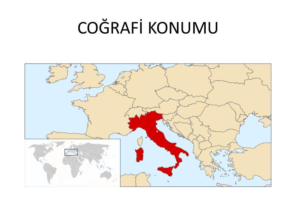 Avrupa'nın güneyinde Akdeniz'e uzanan çizme şeklindeki bir yarım adanın üzerinde kurulu olan bir devlet.