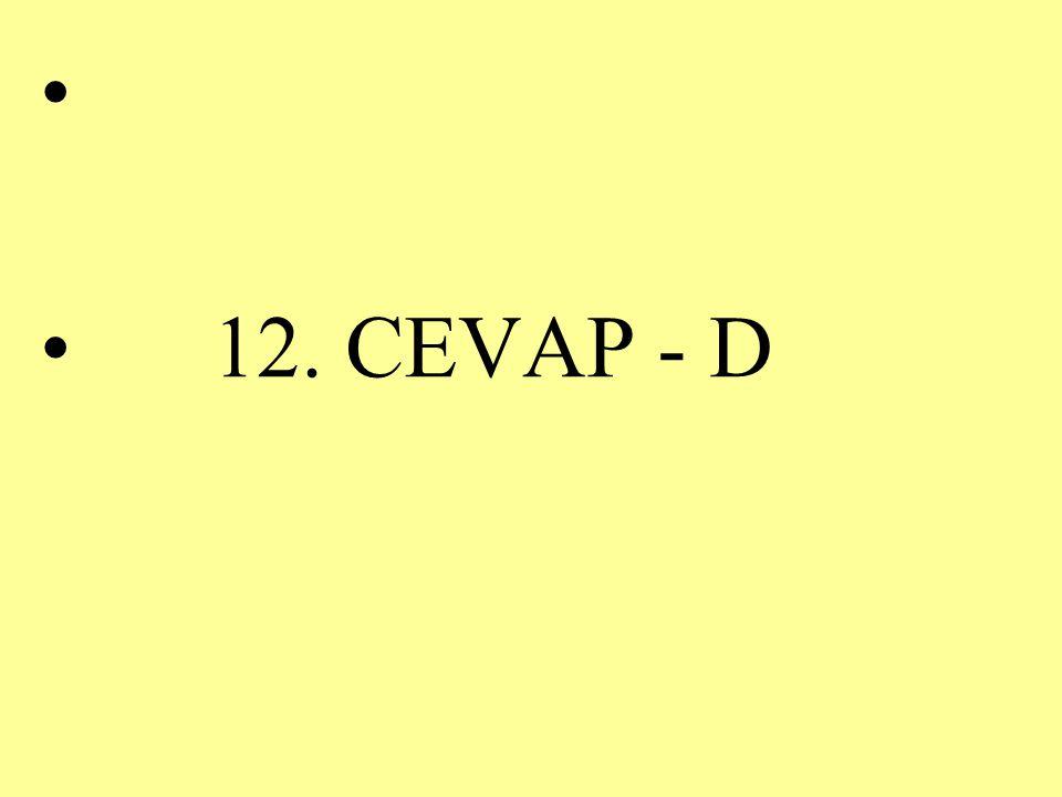 12. CEVAP - D