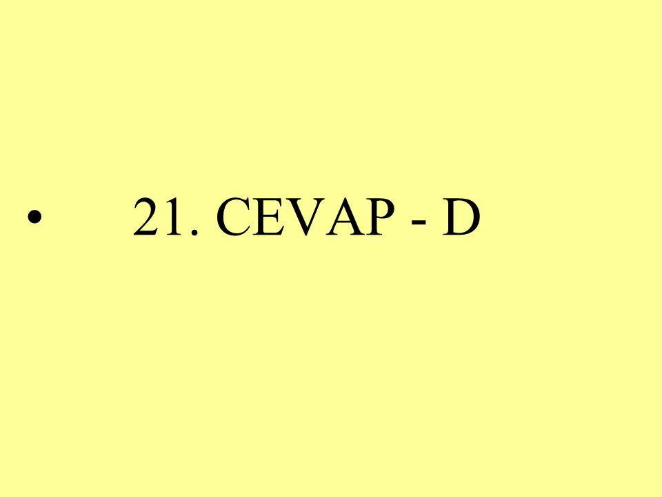 21. CEVAP - D