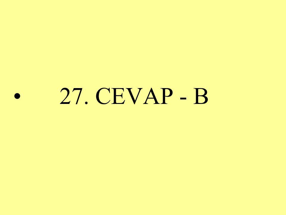 27. CEVAP - B