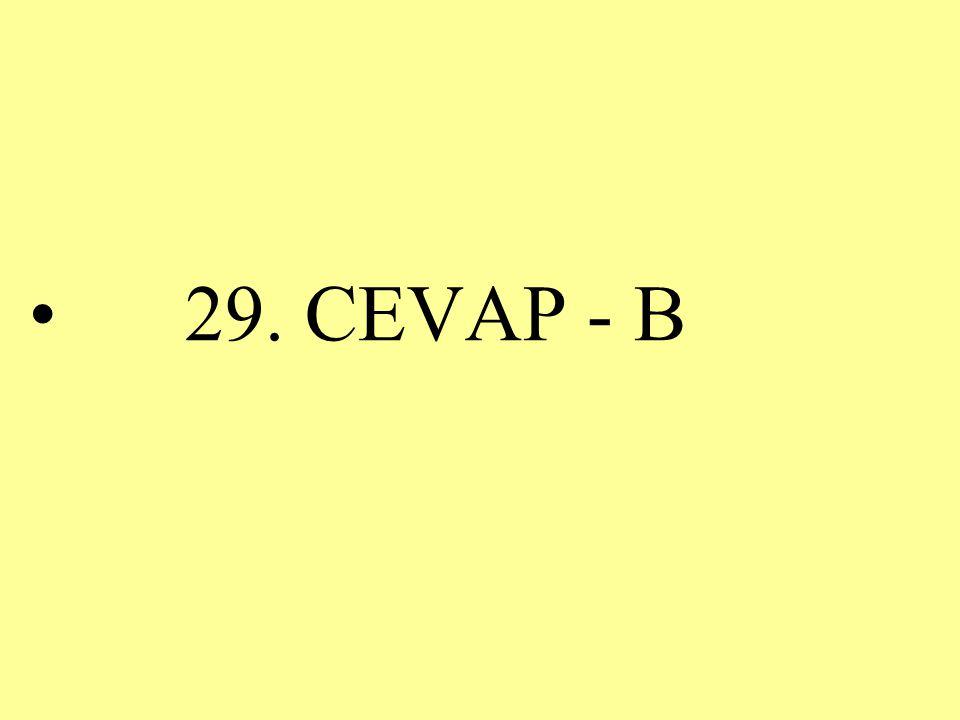 29. CEVAP - B