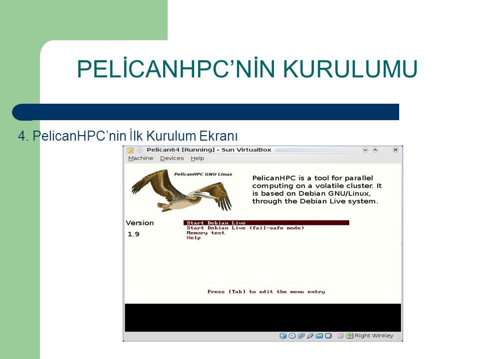 PELİCANHPC'NİN KURULUMU 4. PelicanHPC'nin İlk Kurulum Ekranı