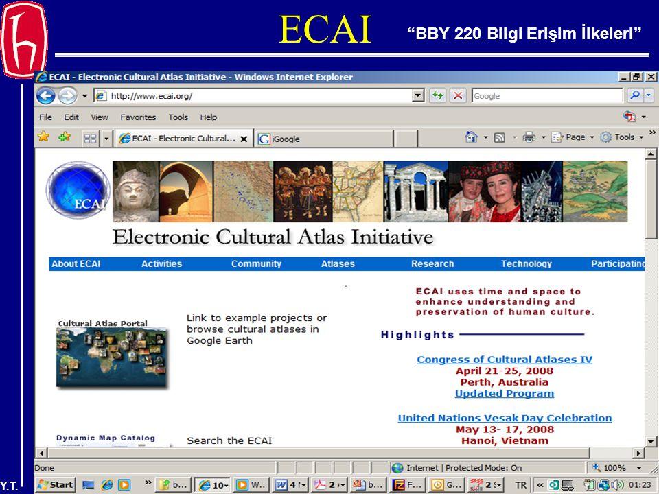 BBY 220 Bilgi Erişim İlkeleri Y.T. ECAI