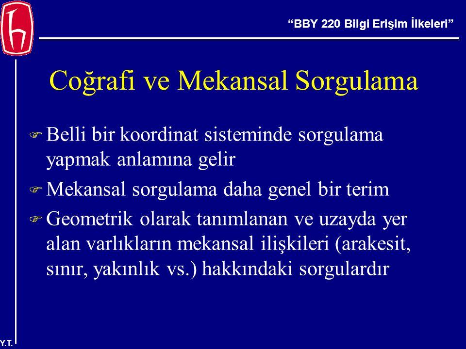 BBY 220 Bilgi Erişim İlkeleri Y.T.