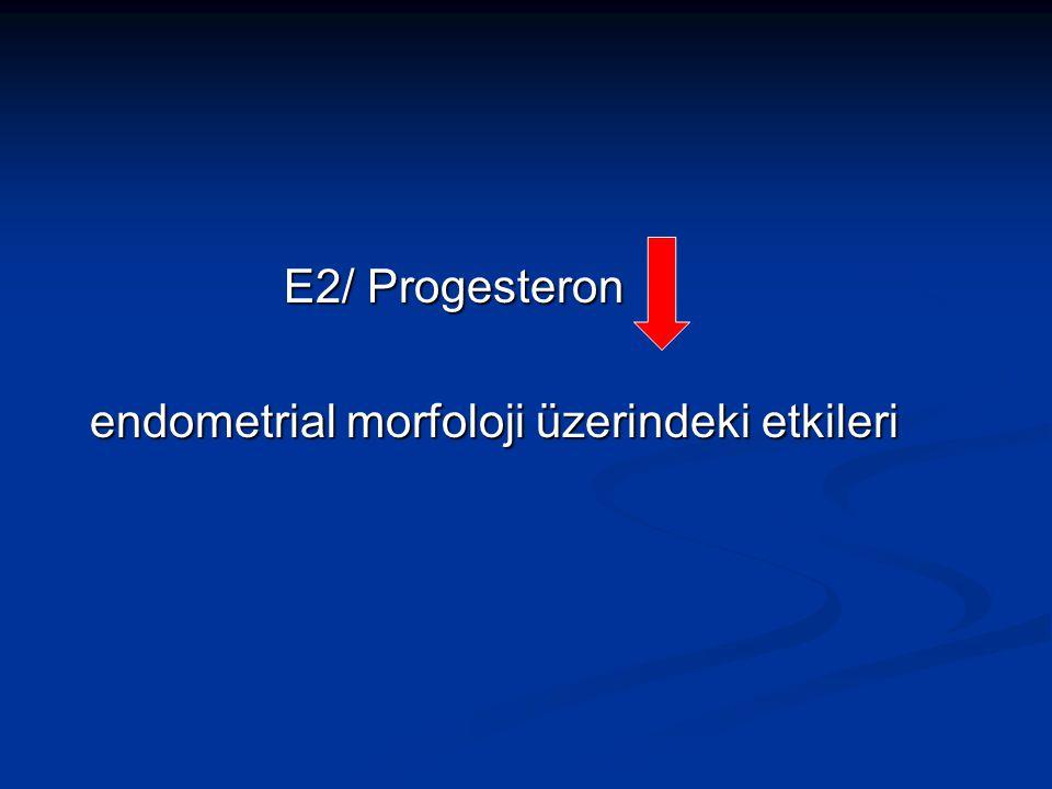 E2/ Progesteron E2/ Progesteron endometrial morfoloji üzerindeki etkileri endometrial morfoloji üzerindeki etkileri