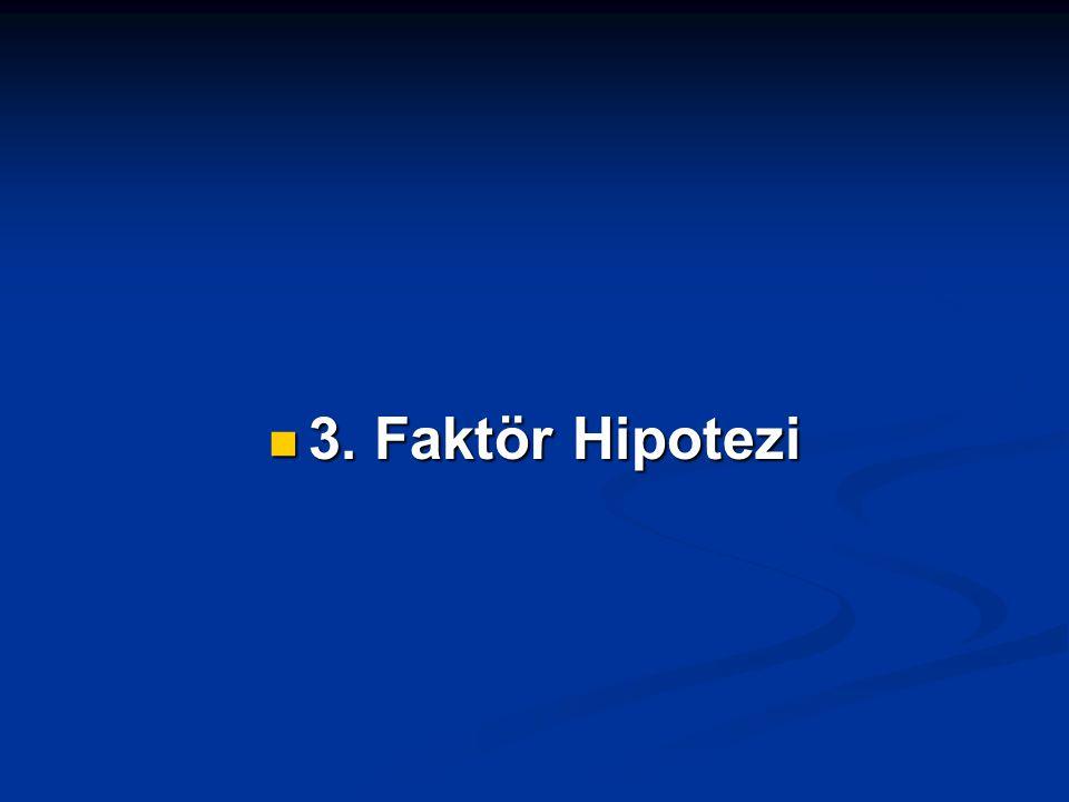 3. Faktör Hipotezi 3. Faktör Hipotezi