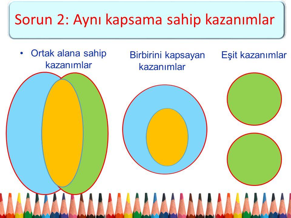 (1-5. Sınıflar) Sorun 2: Aynı kapsama sahip kazanımlar