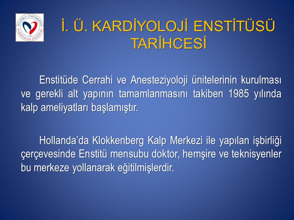 MİSYON İstanbul Üniversitesi'ni örnek bir akademik ünite olarak ülkemizde ve dünya'da temsil etmek, Bilimsel araştırmalar yapmak, uzmanlık öğrencilerinin ve uzman hekimlerinin eğitimine katkı sağlamak, Halkımızın fiziksel, ruhsal ve sosyal açıdan tam iyilik halini sağlamak ve çalışanlarıyla birlikte takdir edilen bir referans merkezi olmaktır.