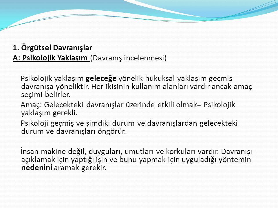 1.Örgütsel Davranışlar B.
