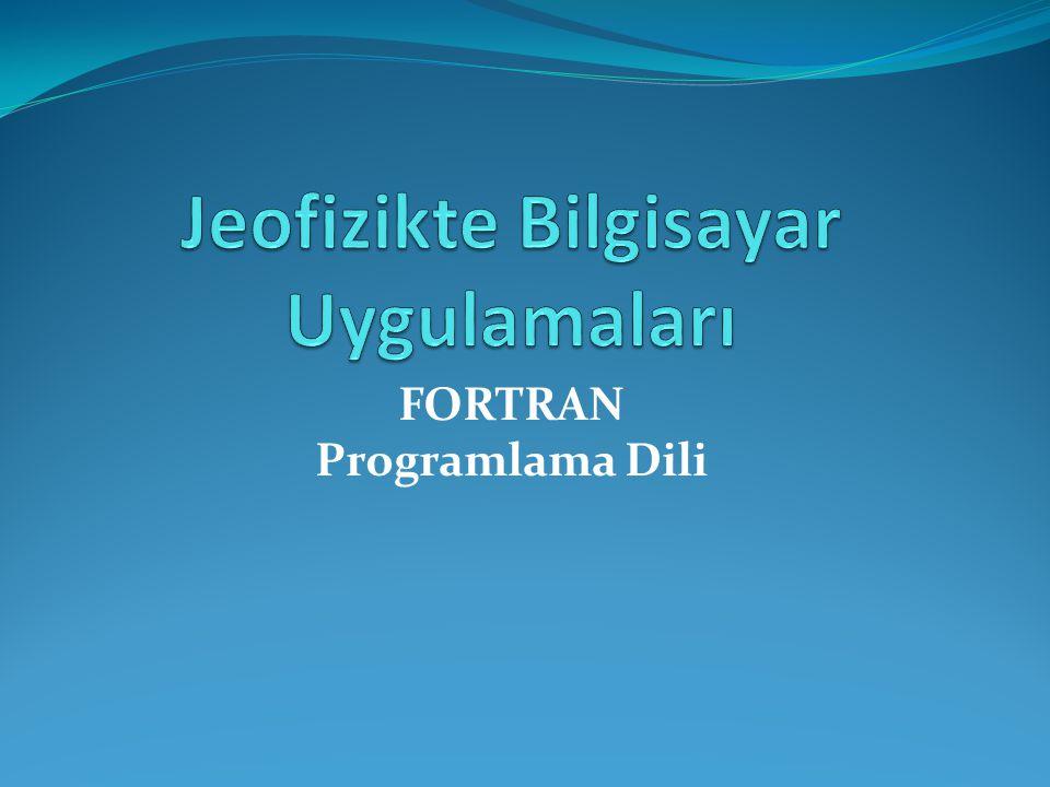 FORTRAN Programlama Dili