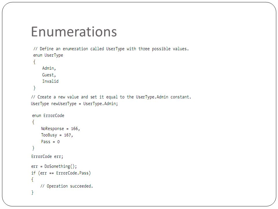 Enumerations