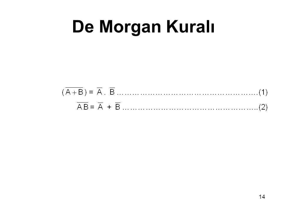 14 De Morgan Kuralı