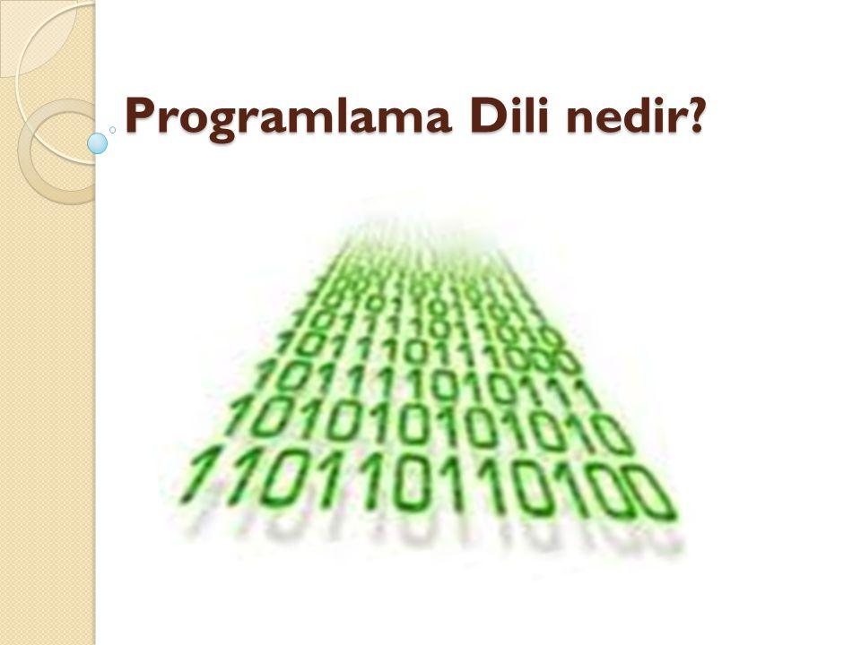 Programlama Dili nedir Programlama Dili nedir